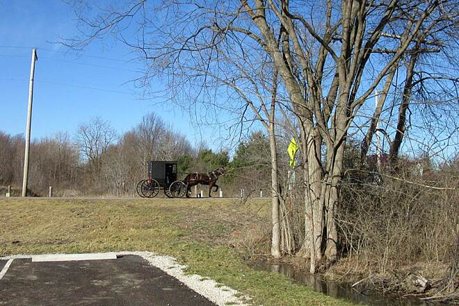 Western Reserve Greenway Amish Buggy This trail runs through Amish Country