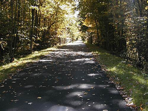 Western Reserve Greenway Eagleville Road in the Fall Eagleville Road Fall View