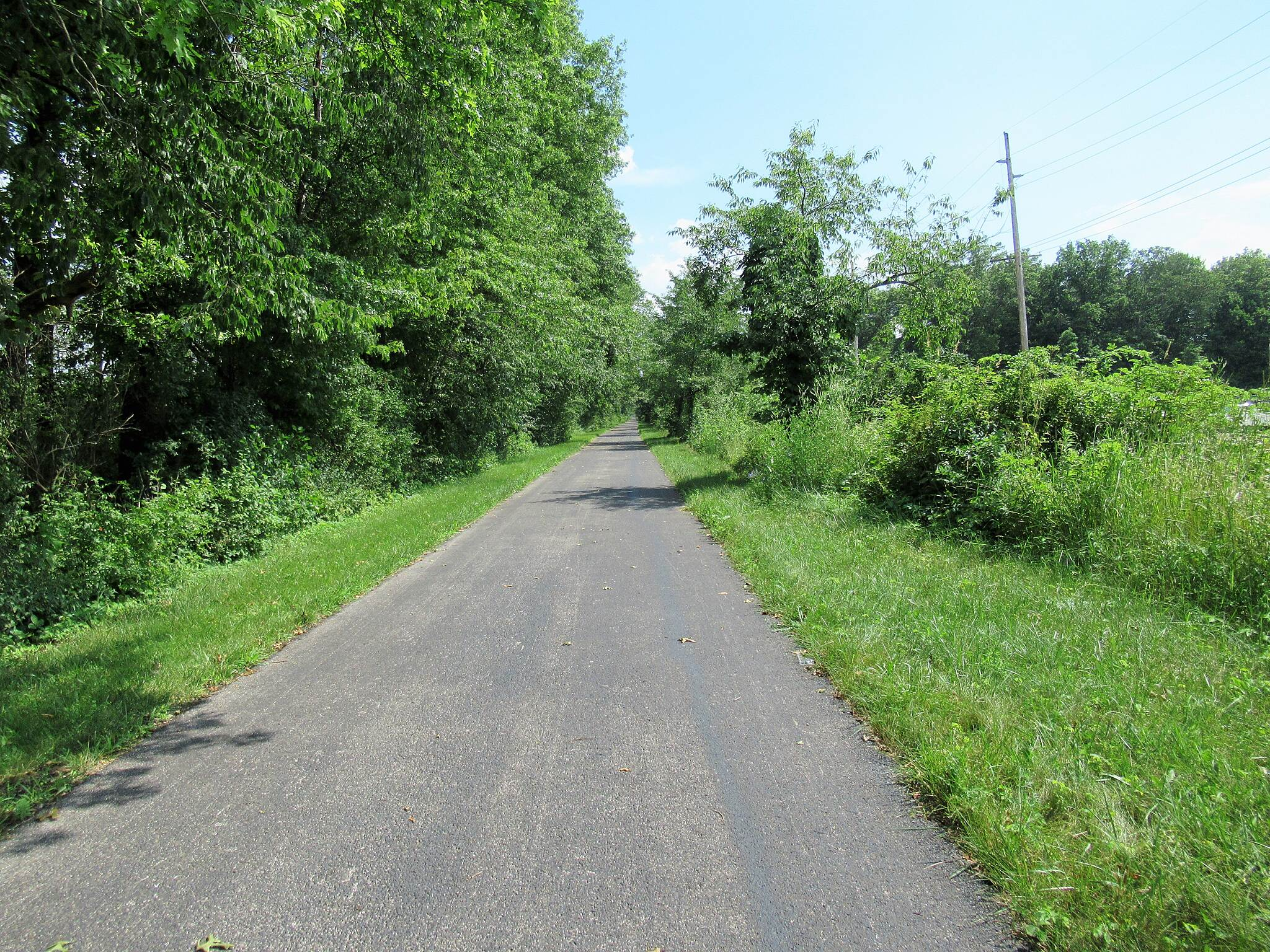 Western Reserve Greenway Heading South from Orwell Just South of Orwell. July, 2019.