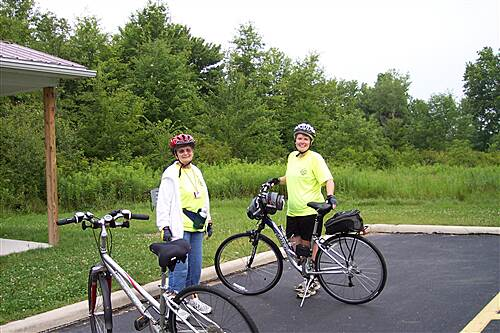 Western Reserve Greenway Western Reserve Greenway, OH Two Bike Patrol Members Check The Oakfield Station
