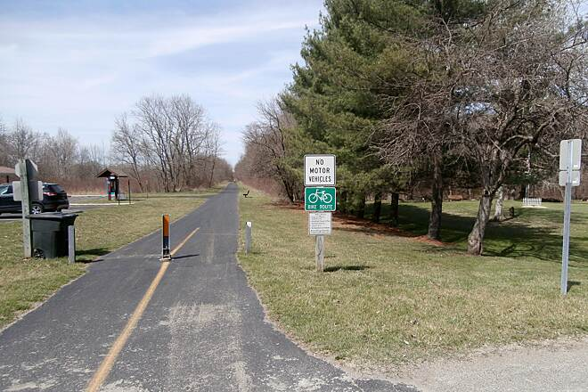 Western Reserve Greenway At Oakfield Trail heading North. April, 2014