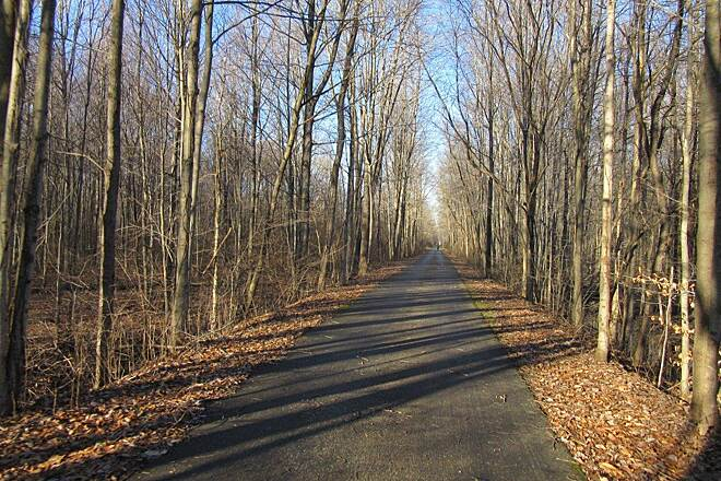 Western Reserve Greenway Trail-December 2014 along the trail