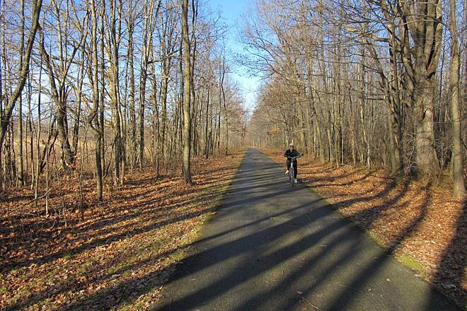 Western Reserve Greenway Trail-Dec 2014 Ride along the trail-December 2014