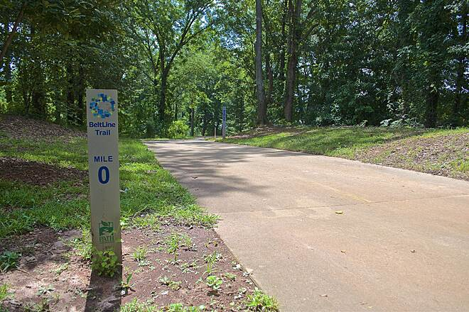 Westside Trail (Atlanta Beltline) The trail runs through tree-lined Atlanta neighborhoods. Photo by John Becker