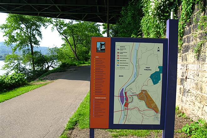 Wheeling Heritage Trails Greater Wheeling Trail A typical information sign - one of many.