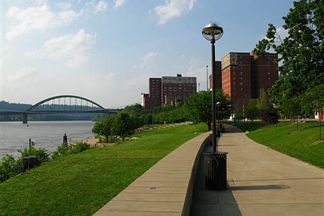 Wheeling Heritage Trails Greater Wheeling Trail The riverfront area downtown.