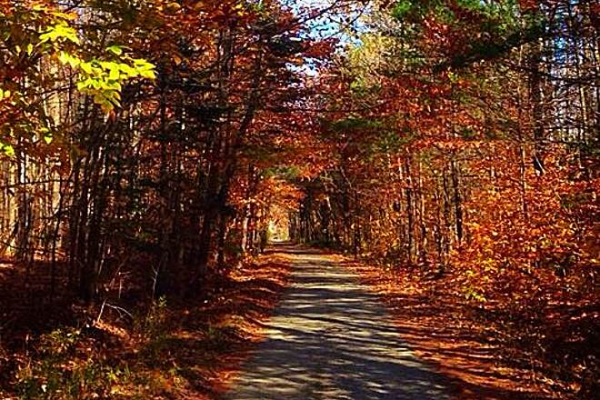 Whistle Stop Rail-Trail Beautiful in the fall