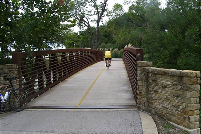 White Rock Creek Trail (North) White Rock Creek Lake Trail Bridge at North End of lake