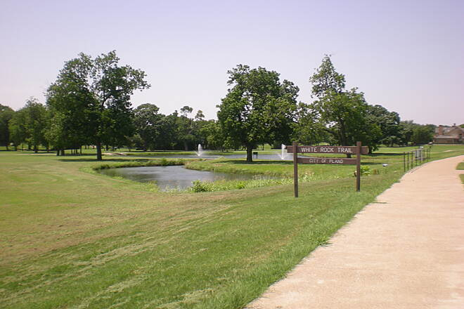 White Rock Park Trail White Rock Park Trail  Photo provided by the City of Plano.