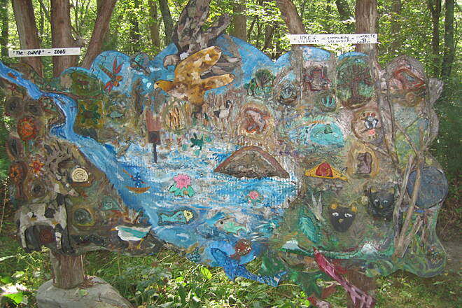 William C. O'Neill Bike Path Art on the trail 'The Swamp'