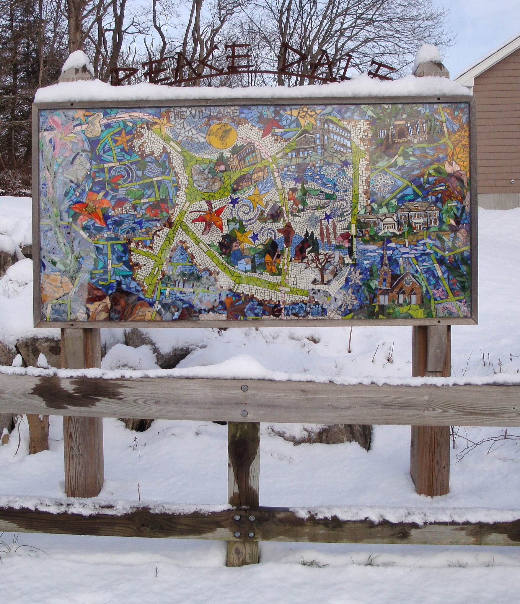 William C. O'Neill Bike Path Peace Dale Artwork In the Peace Dale section, trail users will find several examples of very pleasant local artwork.