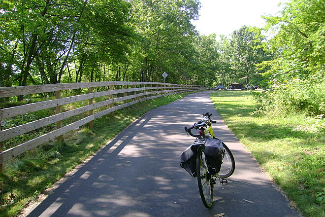 Windsor Locks Canal State Park Trail Start of the trail in Suffield