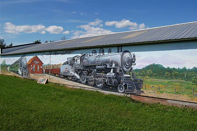 Wiouwash State Trail All aboard! All aboard! One of several murals along trail in Wittenberg