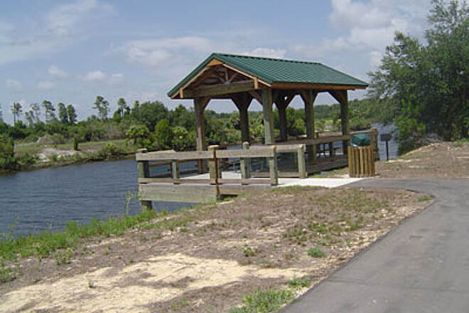 Withlacoochee Bay Trail One of Many Rest Stops This trail has no shortage of gorgeous rest stops along the loch and also overlooking the marshes near the gulf.
