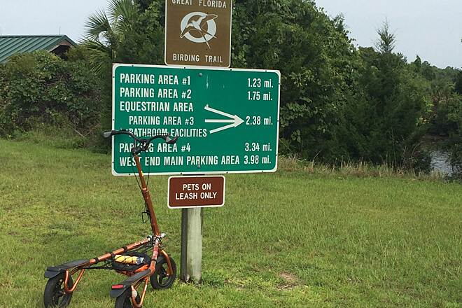 Withlacoochee Bay Trail Mileage to each area