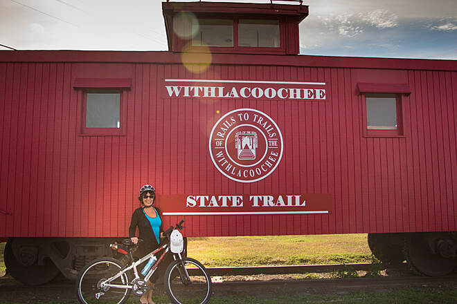 Withlacoochee State Trail Inverness Trailhead Caboose
