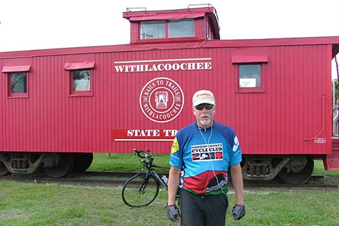 Withlacoochee State Trail The old cabbose Neat old box car