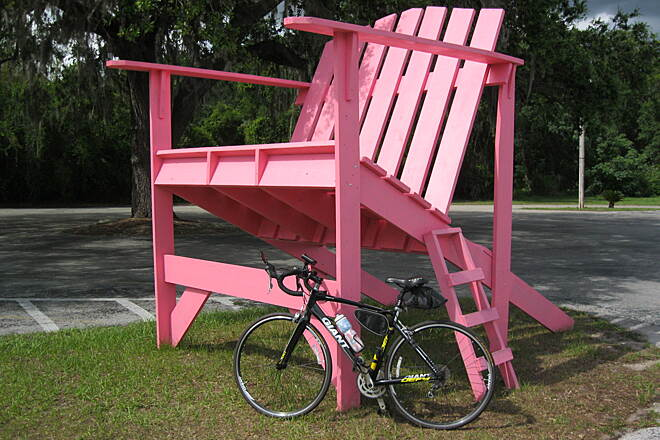Withlacoochee State Trail Have a seat and relax! A mile north of Floral City.