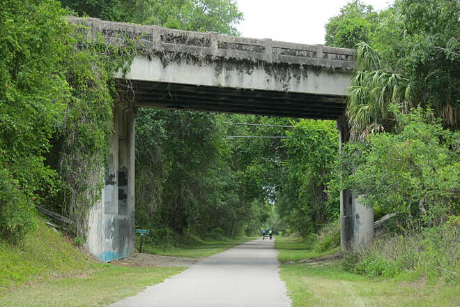 Withlacoochee State Trail Overpass near Inverness.