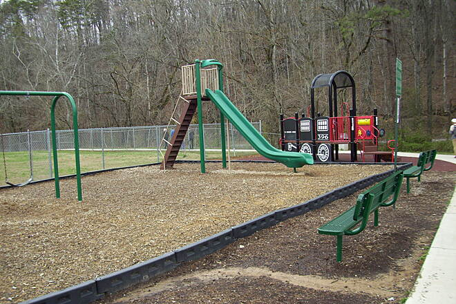 Wolftever Creek Greenway Nice playground Nice playground for the kids near the nice restrooms!