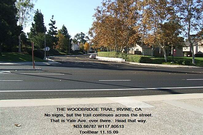 Woodbridge Trail Woodbridge Trail, Irvine, CA. Trail continues over there.