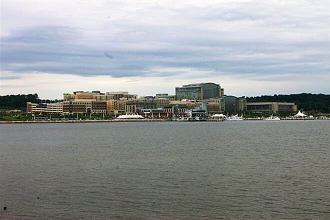 Woodrow Wilson Bridge Trail National Harbor from the Oxon Hill, MD side of the Bridge