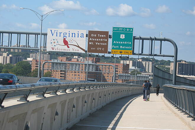 Woodrow Wilson Bridge Trail Welcome to Virginia