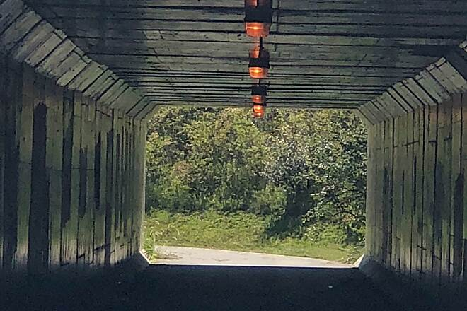 Wright Brothers Huffman Prairie Bikeway Tunnel under St. Rte. 444 You pass through this tunnel in order to cross State Route 444 in order to ride the entire Wright Bros. Huffman Prairie Trail.  You cross from Montgomery County, into Greene County, Ohio.  September 16, 2018.