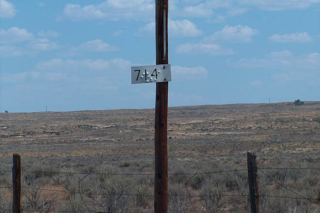 Wyoming Heritage Trail Railroad Mileage Marker