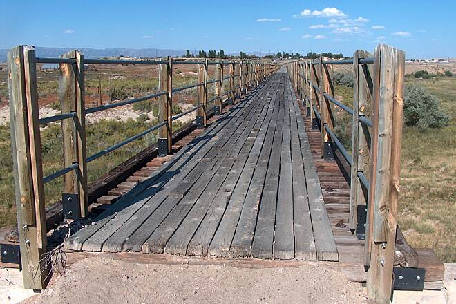 Wyoming Heritage Trail Repaired Bridge, Shoshoni