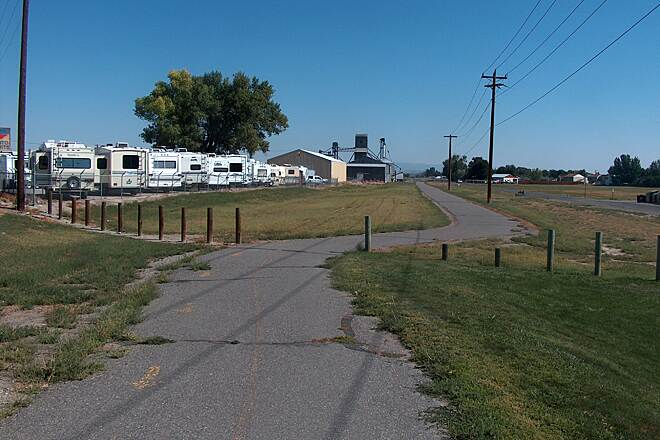 Wyoming Heritage Trail Paved Section Near Trailhead, Riverton