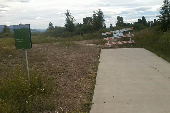 Yampa River Core Trail Southern End 2015 But looks like they want to expand it further south someday.