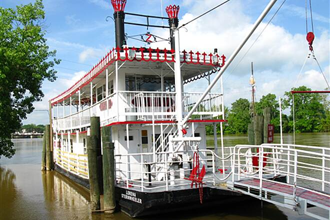 Zane's Landing Trail The Lorena The Lorena sternwheeler on the Muskingum River.
