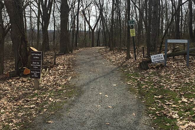 Zoar Valley Trail Fort Laurens Trailhead The Zoar Valley Trail is a continuation southward of the Ohio and Erie Canal Towpath Trail whose northern terminus is Lake Erie in Cleveland, Ohio.